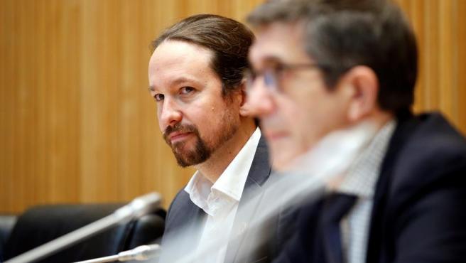 Pablo Iglesias, y el presidente de la Comisión para la Reconstrucción Social y Económica, Patxi López.