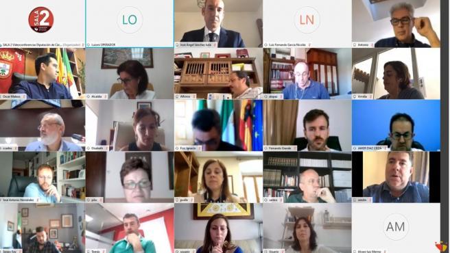 Pleno de la Diputación de Cáceres del mes de mayo
