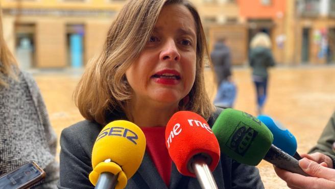 Portavoz de Somos en el Ayuntamiento de Oviedo, Ana Taboada.