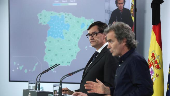 Rueda de prensa Salvador Illa y Fernando Simón