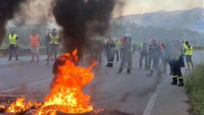 Barricadas en Alcoa, Lugo
