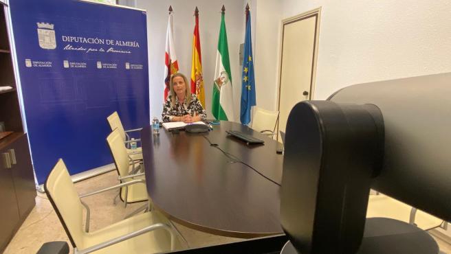 La diputada María Luisa Cruz en el tercer 'Foro del Deporte Provincial'