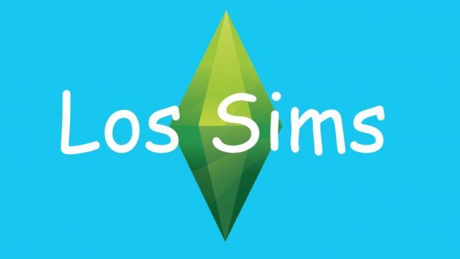 'Los Sims' escrito en la tipografía Comic Sans sobre el logo.