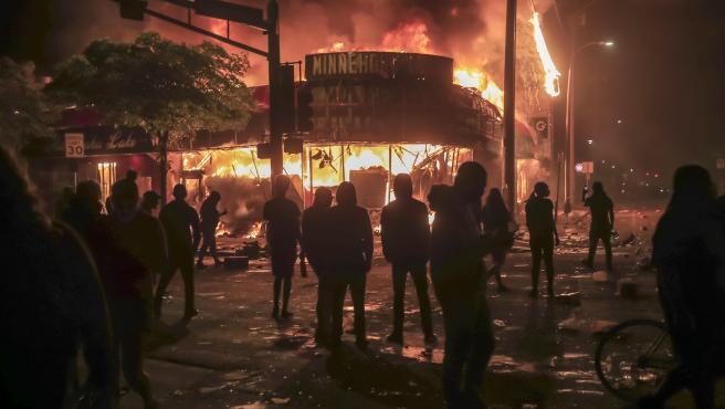 Protestas en Minneapolis.