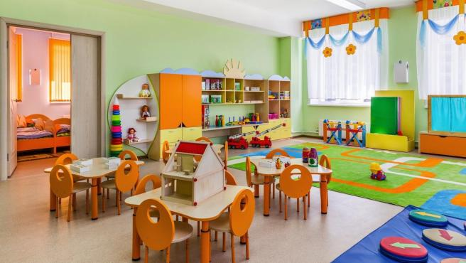 Sala de una guardería. Foto de archivo.