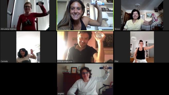 Sesión digital de rehabilitación para pacientes de esclerósis múltiple