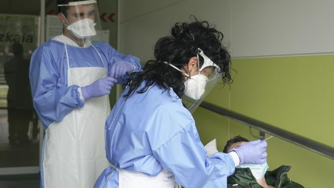 Análisis PCR en un local de la Diputación de Bizkaia