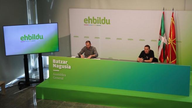 Asamblea General de EH Bildu, con Arnaldo Otegi a la cabeza, por vía telemática