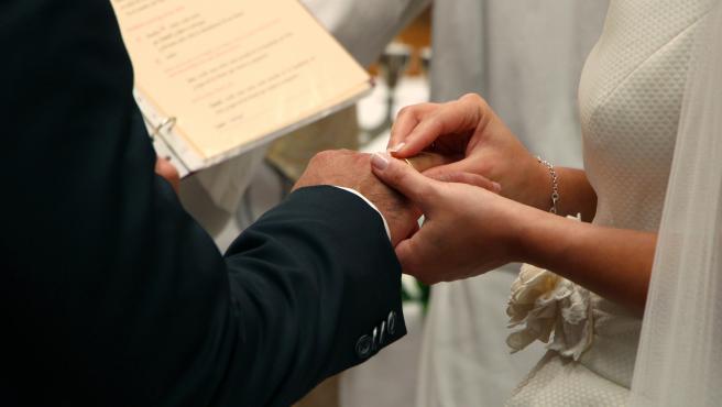 Imagen de archivo de la celebración de una boda.