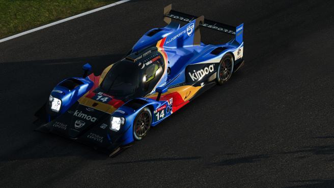Coche del equipo de Fernando Alonso para las 24 horas de Le Mans virtuales