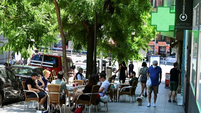 Terrazas de bares en el madrileño barrio de Lavapies.