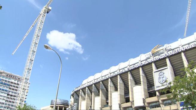 Prosiguen las obras en el Santiago Bernabéu antes de inicio de LaLiga