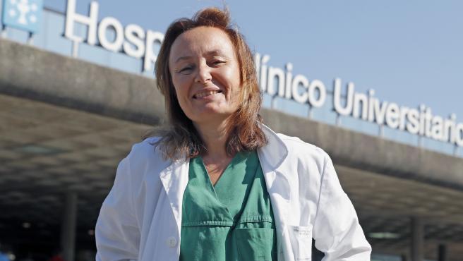 La doctora Ana López Lago, intensivista en el Hospital Clínico de Santiago