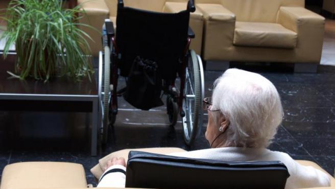 Una anciana en una imagen de archivo.