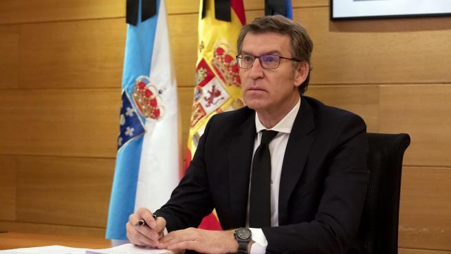 anf mantén unha videoconferencia co presidente do goberno central Pedro Sanchez e os outros presidentes autonomicos