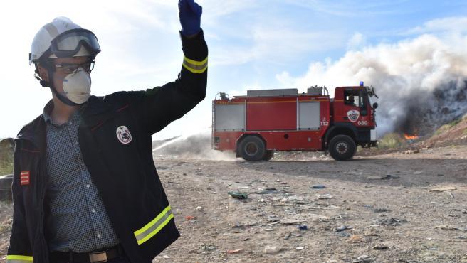 Incendio Centro Residuos Albaceye