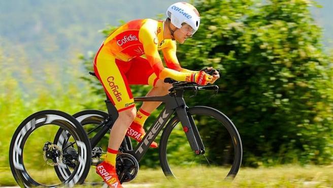Joan Reinoso, ciclista paralímpico.
