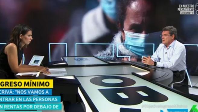 El ministro José Luis Escrivá, en 'El Objetivo' de LaSexta.
