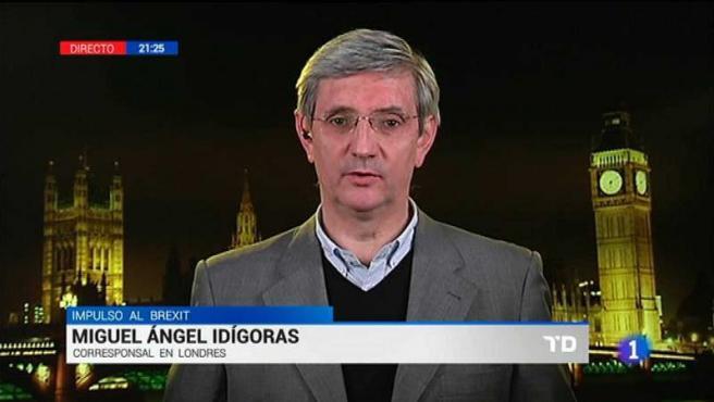 Miguel Ángel Idígoras, corresponsal de TVE en Londres.