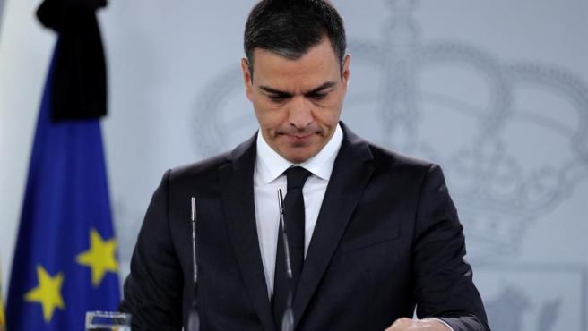 Pedro Sánchez interviene en rueda de prensa tras reunirse con los presidentes autonómicos.