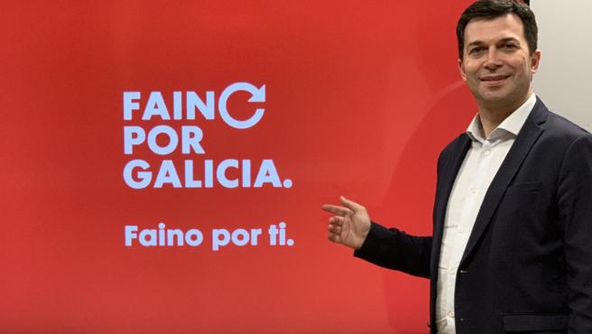 El candidato socialista del PSdeG, Gonzalo Caballero, presenta su lema de precampaña: 'Faino por ti. Faino por Galicia'