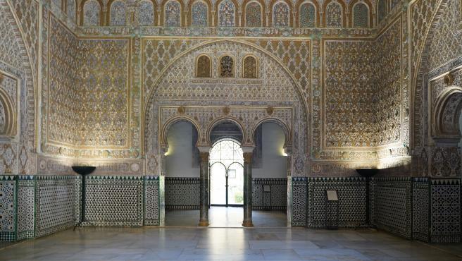Patio de las Doncellas del Alcázar de Sevilla, cuya apertura al público del monumento está prevista para la segunda quincena de junio.