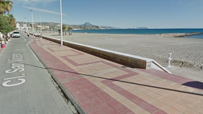 Platja carrer la Mar, en El Campello.