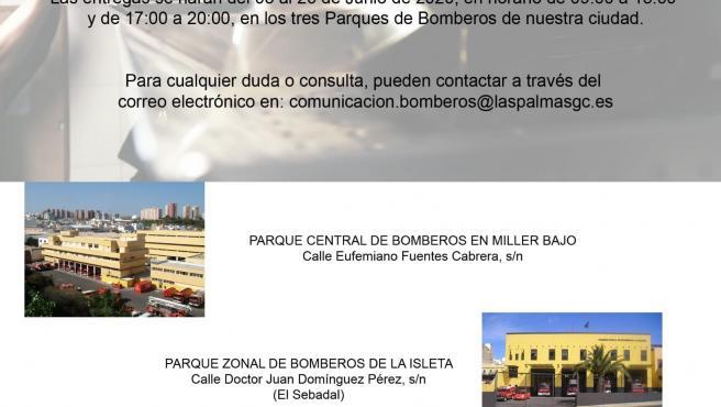 Campaña de recogida de alimentos de los bomberos de Las Palmas de Gran Canaria