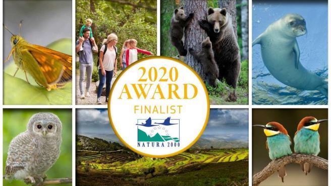 Cartel del Premio Europeo Natura 2000