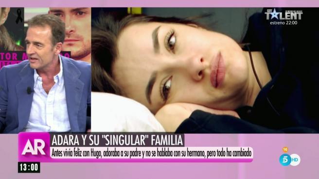 Alessandro Lequio habla de la relación de Adara Molinero con su padre.