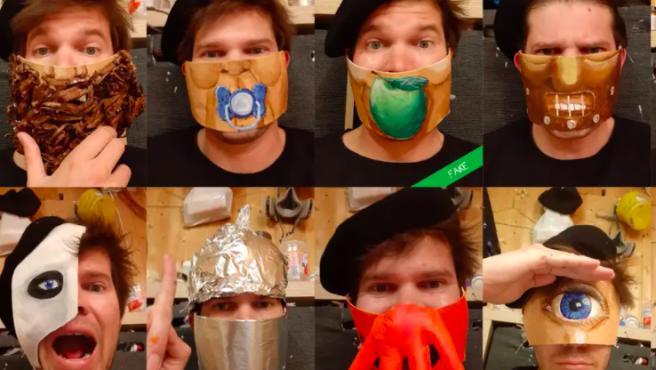Algunas de las mascarillas de Matthias Kretschmer.