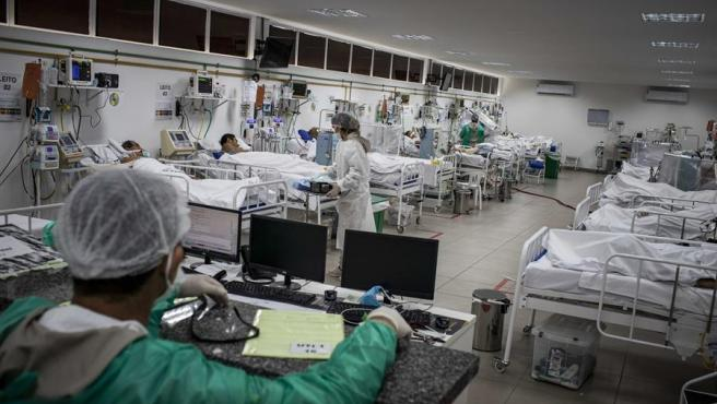 La unidad de COVID-19 del Hospital Campanha Gilberto Novaes, en Manaos, en el estado brasileño de Amazonas.