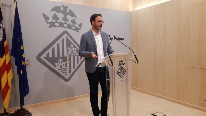 El alcalde de Palma, José Hila, en una rueda de prensa en septiembre.