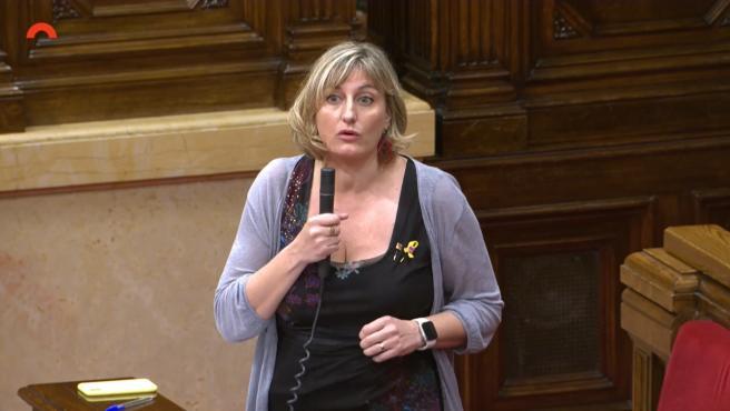 La consellera de la Generalitat Alba Vergés en el pleno del Parlament del 3 de junio.