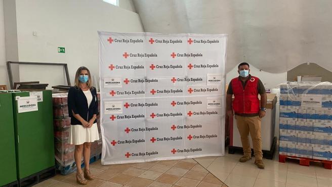 Mercadona dona productos de primera necesidad a Cruz Roja Extremadura