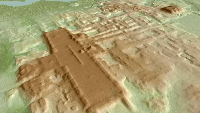 Recreación yacimiento de Aguada Fenix, en el estado de Tabasco (sur de México)