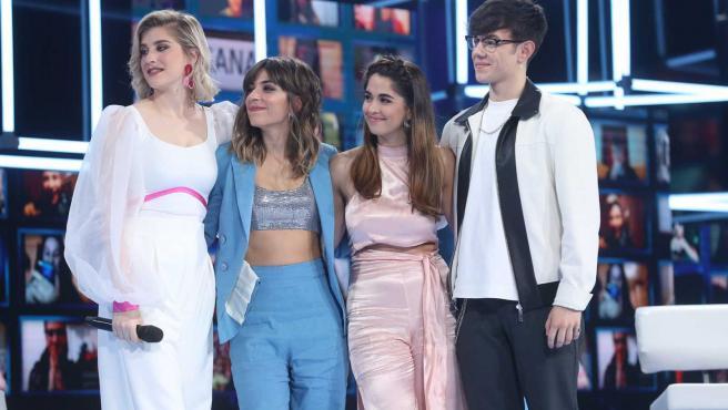 Samantha, Maialen, Anaju y Flavio, concursantes de 'OT 2020'.