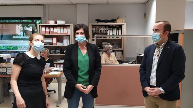Visita de la delegada del Gobierno en La Rioja, María Marrodán, a las dependencias de la Jefatura Provincial de Tráfico