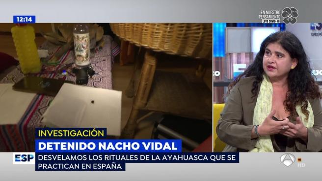 Lucía Etxebarria cuenta en Antena 3 sus experiencia con drogas alucinógenas.