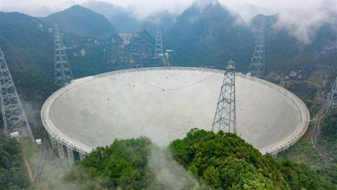 El telescopio más grande del mundo se encuentra al suroeste de China.