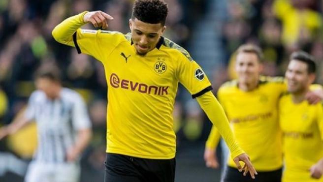 Sancho, en un partido del Dortmund.