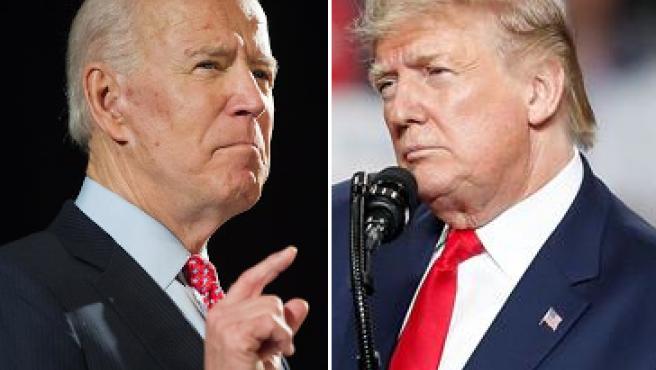 El ex vicepresidente de EE UU Joe Biden, y el presidente, Donald Trump.