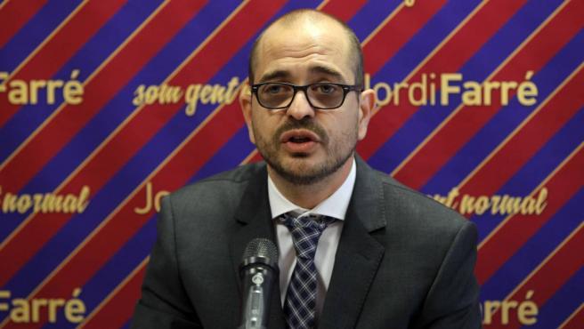 Jordi Farré, durante su precandidatura de 2015.