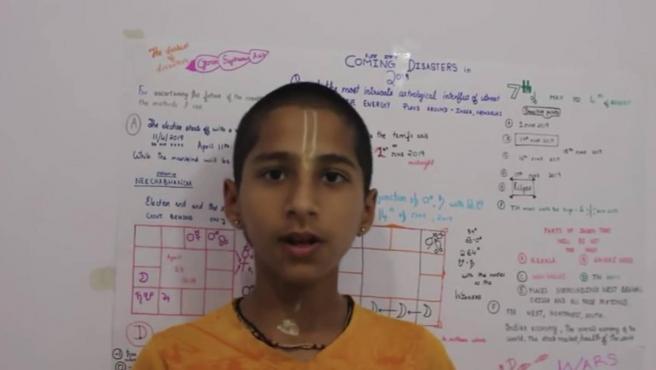 Abhigya Anand, el niño que predijo la llegada del coronavirus.