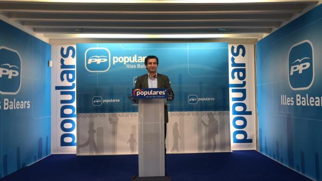 El líder del PP en Baleares, Biel Company, en rueda de prensa