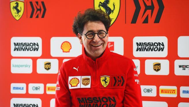 Mattia Binotto, jefe de equipo de Ferrari.