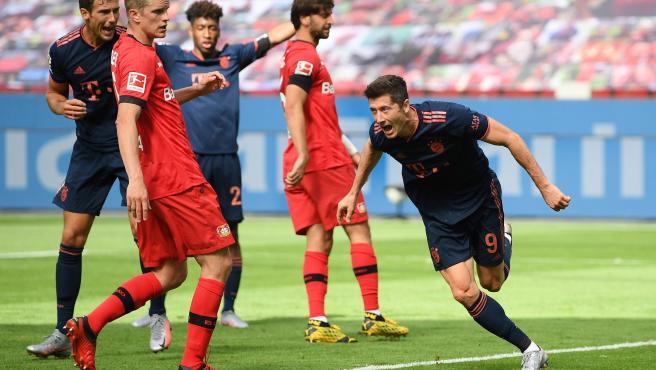 Robert Lewandowski celebra un gol