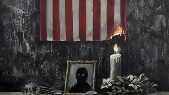Obra de Banksy en homenaje a George Floyd.