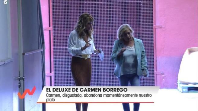 Emma García discute con Carmen Borrego en 'Viva la vida'.