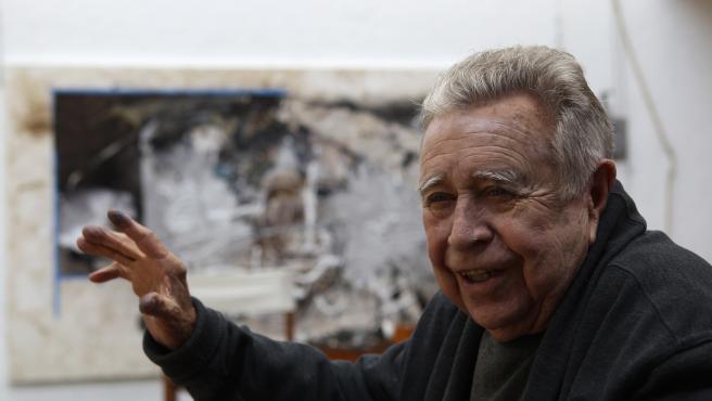 Manuel Felguérez, retratado en abril de 2017.